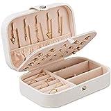 نمط كوري جديد وبسيط صندوق أقراط للفتيات صندوق مجوهرات جلد محمول متعدد الوظائف صندوق تخزين مجوهرات