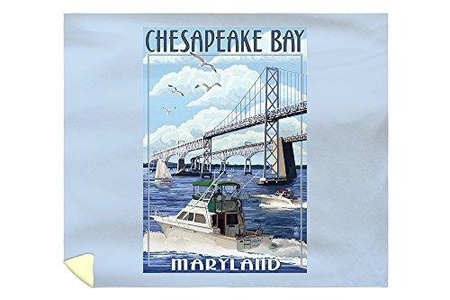Maryland - Chesapeake Bay Bridge (88x104 King Microfiber Duvet Cover) (Chesapeake Pottery Barn)