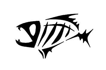 amazon com black gloomis skeleton fish boat logo window new sticker rh amazon com skeleton fish logo restaurant Fish Skeleton Tattoos