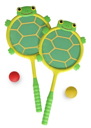 Melissa & Doug Sunny Patch Tootle Turtle Racquet and Ball Bouncing Game (Tootle Turtle)