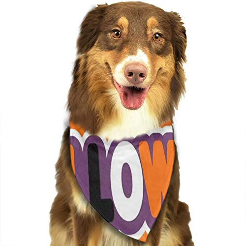 HJudge Dog Bandana Halloween Organe Dog Scarf Special Puppy Bandana -
