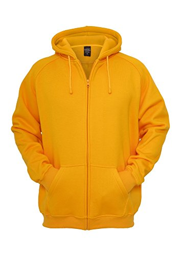 TB014c 'Urban Classics' Zip Hoody (Various Colours), Größe:L;Farbe:orange