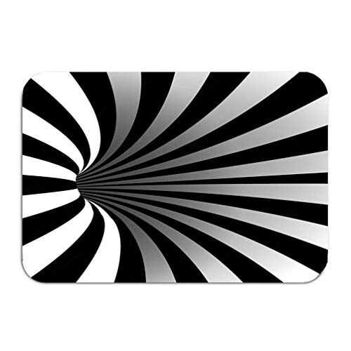 g1c Carpet Rug Door mat Spiral Vortex Illusion Optical Art Motion Striped Tunnel Swirl Geometric Magic Background Hole Effect Movement executed 16 24 inch