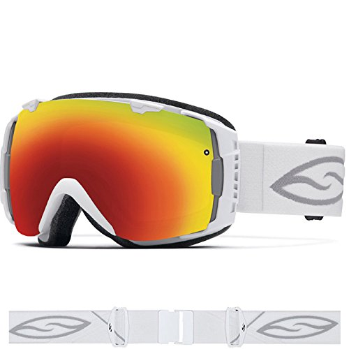 Smith IO Interchangeable Goggles with Bonus Lens White/Red Sol-X/Extra Blue Sensor, One Size by Smith Optics
