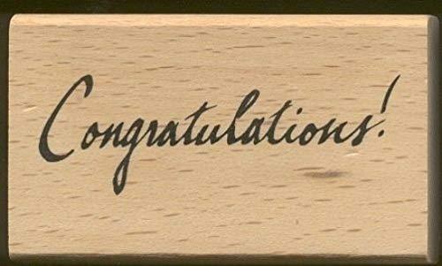 (Rubber Stamp Frames Congratulations! Script Writing Anita