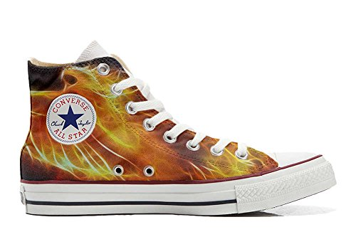 Schuhe Custom Converse All Star, personalisierte Schuhe (Handwerk Produkt customized) Fire