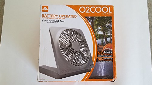 BATTERY OPERATED 10IN PORTABLE FAN (10 Inch Tabletop Fan)