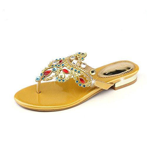 KPHY Zapatos De Mujer En Bohemia Golden