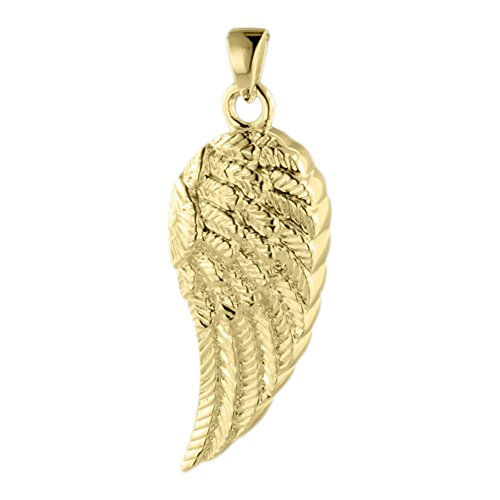 Perfect Memorials Wing of an Angel 14k Gold Vermeil Cremation Jewelry Gold Vermeil Keepsake Urn