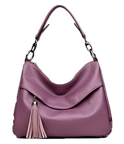 Mode Femme Zippers Violet Pu tout à Sacs Sacs fourre Cuir GMBBB180988 bandoulière AgooLar A1nwqpw
