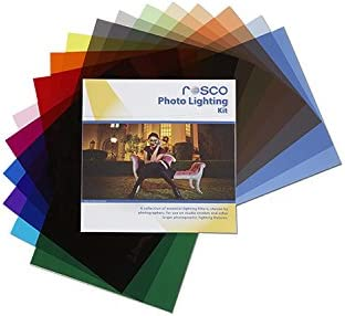 12 x 12 Sheets Rosco Photo Lighting Filter Kit