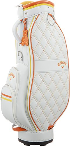 Callaway(キャロウェイ) PU Sport ピーユースポーツ ウィメンズ キャディバッグ 16 JM ホワイト/オレンジ 5115583の商品画像