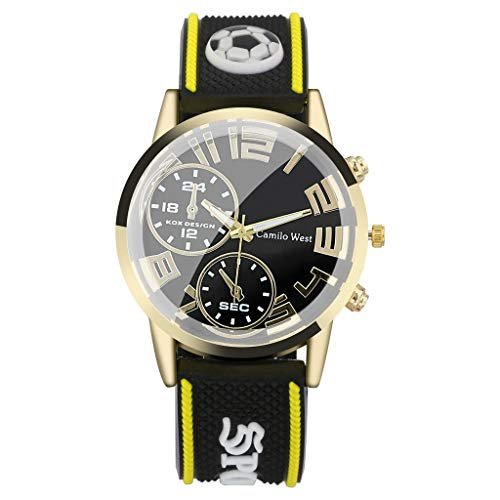 Men's Watches Waterproof Tactical Watch, Fashion Outdoor Sports Watch Silicone Strap Double Eyes Simple -