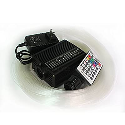 LEDHOLYT 16W RGBW Fiber Optic Engine Driver Star Ceiling Kit 200pcs 0.75mm 2M Cable 28key RF Remote Control Light
