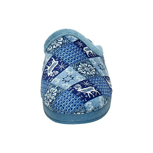 Femme pour Bleu KOKIS 83007 Chaussons wAxUqZat7
