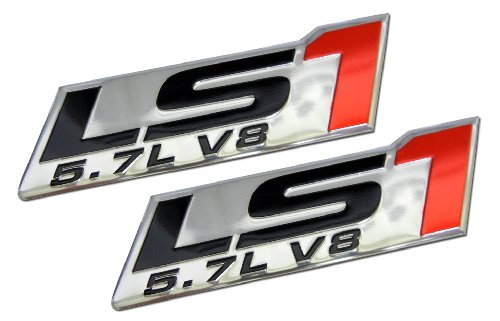 2x (pair/set) LS1 5.7L V8 Red Engine Emblems Badges Highly Polished Aluminum Chrome Silver for Pontiac Trans Am Firebird WS6 Chevy Chevrolet Corvette C5 ZR1 Camaro Z28 SS Super Sport Holden Vehicles Clubsport R8 Grange GTS Maloo Senator Signature 300 Coupe SE LE Avalanche XUV AWD Monaro CV8 VT VX Y Series Elfin MS8 Streamliner Clubman Mosler MT900 Crate 98 99 00 01 02 03 04 05 06 07 08 09 10 11 12 13 1998 1999 2000 2001 2002 2003 2004 2005 2006 2007 2008 2009 2010 2011 2012 2013 (Camaro Trans Am)