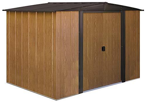 - Arrow WL86 Woodlake 8-Feet by 6-Feet Steel Storage Shed