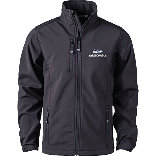 Dunbrooke Apparel NFL Seattle Seahawks Men's Softshell Jacket, 2X, Black by Dunbrooke Apparel