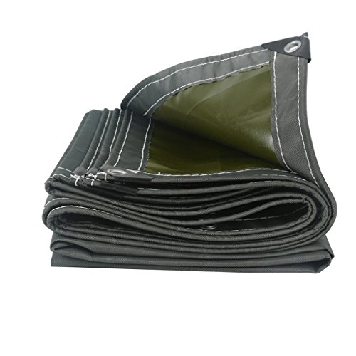 Tarpaulin Waterproof, Durable, Tear-resistant, Anti-aging, Outdoor Multifunctional Waterproof Cloth 650g/M2, 2 Colors (16 Sizes) (Color : Gray, Size : 5x4m)