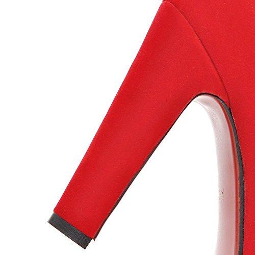 Invierno Más Confort 12 Negro Rojo Mujer AIURBAG Botas cms PU y Casual Otoño wXHgZqgF