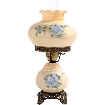 Rhombus Hurricane Table Lamp In Rose W 10 In. Shade