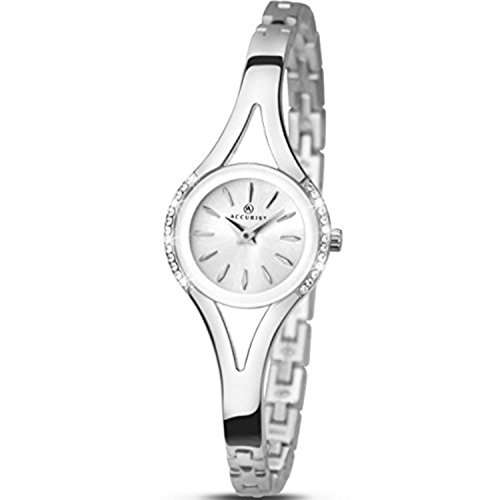 Ladies Accurist Stainless Steel Watch 8134