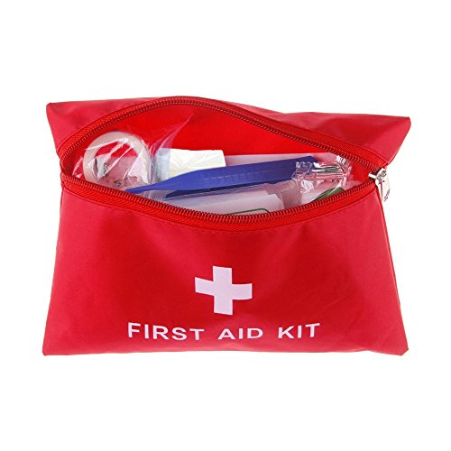 Medical Emergency Bag with Zipper,Survival First Aid Kit Waterproof Compact Response Trauma Bag Camping Travel Car Treatment Pack Set