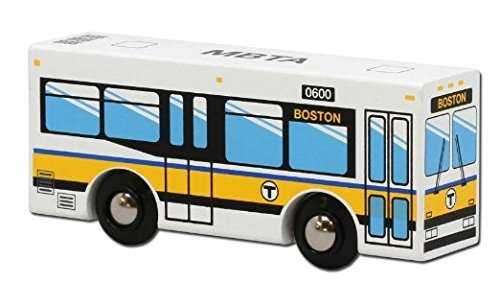 MBTAgifts MBTA Bus Wooden Toy Vehicle