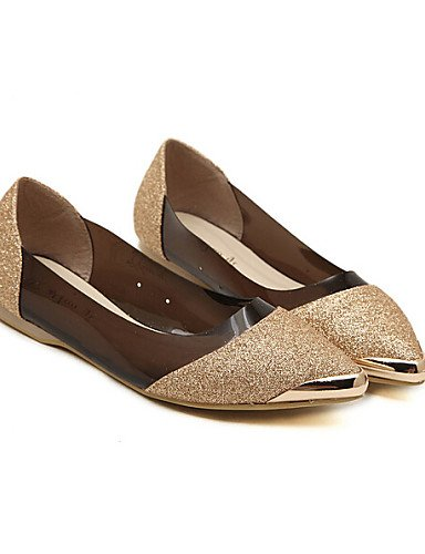 cn34 de us5 de pink negro Flats PDX uk3 mujer cerrado piel eu35 Toe Casual zapatos rosa talón plano azul SwZAdUqW