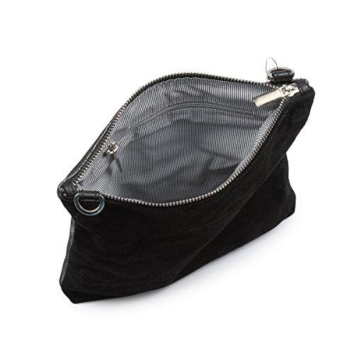 Over Bag Clutch Metallic Messenger Black Lw12 Fold Anna Hydestyle Rimor STqI0