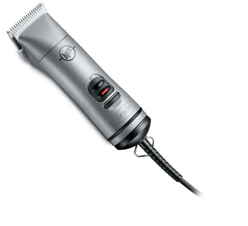 Andis Professional Ceramic Hair Clipper with Detachable Blade, Model BGRC, Silver (63965)