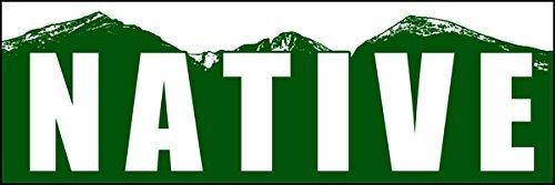 American Vinyl Native Colorado Mountain Bumper Sticker
