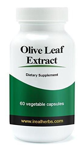 Real Herbs Olive Blattextrakt Super Stärke - 750mg standardisiert zu 20% oleuropein - Alle Vorteile des Olivenblatt Extrakt und in praktischen Kapselform. 60 vegetarische Kapseln