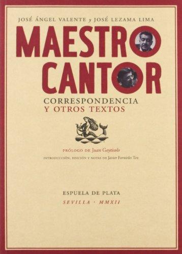 Maestro cantor. Correspondencia y otros textos (Otros titulos)