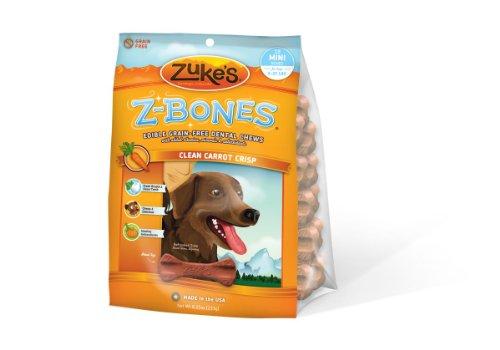 Zuke's Z-Bones Grain Free Edible 18 Count Dental Chews, 0.45-Ounce ea, Clean Carrot Crisp, My Pet Supplies