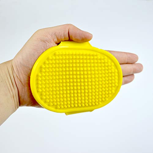 (DEELING Pet Grooming Shampoo Brush Soothing Massage Rubber Bristles Curry Comb for Dogs & Cats Washing)