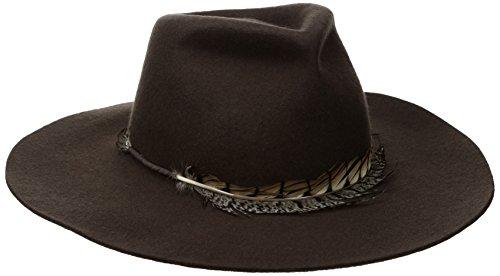 SCALA Women's Felt Safari with Feather (Chocolate) - Scala Wool Safari Hat