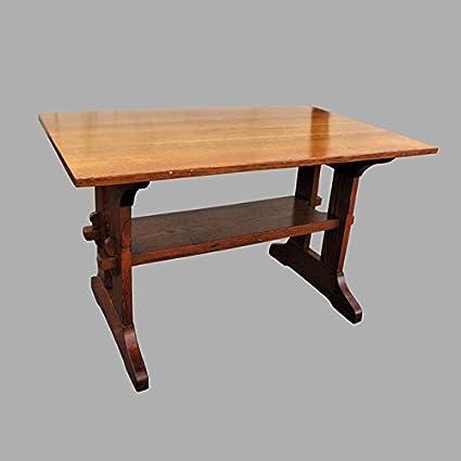 Antique Lu0026jG Stickley Trestle Table W2179