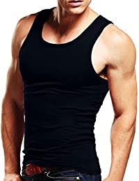 Men's Tank Top Sleeveless T-shirts Muscle Cotton A-Shirt Classic Tee