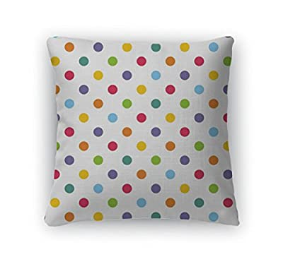 Gear New Pattern with Colorful Polka Dots on White Zippered Square Pillow