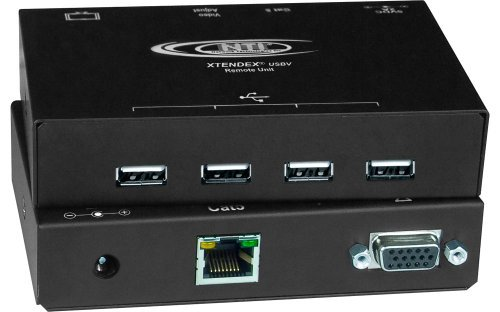 XTENDEX® 4-Port USB Extender with VGA Video via CAT5, Extend to 200 Feet