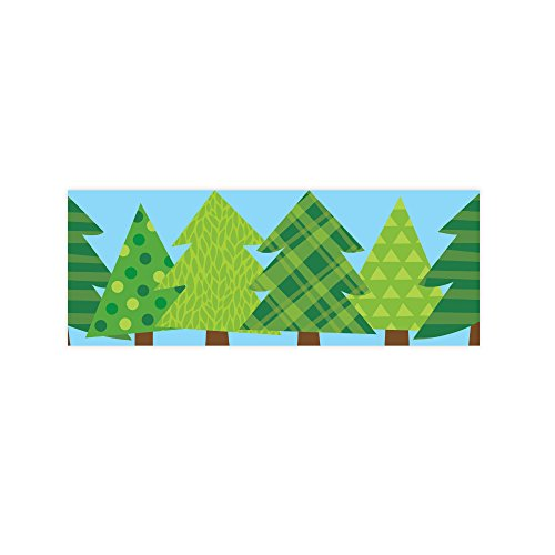 Creative Teaching Press Woodland Friends Patterned Pine Trees Border (8386) (Border Pine Tree)