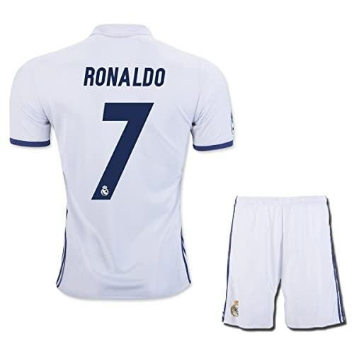 separation shoes 4dbe4 c7b9b hot sale 2017 Ronaldo #7 Real Madrid Home Kids Soccer Jersey ...