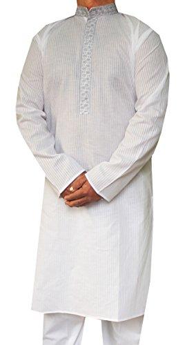 Maple-Clothing-Uomo-Kurta-Pigiama-Cotone-Ricamato-Indiano-Apparel