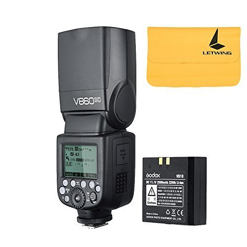 Godox V860II-C Pioneering 2.4G Wireless E-TTL II Li-on Camera Flash Speedlite for Canon 6D 50D 60D 1DX 580EX II 5D Mark II III (V860II-C) by Godox