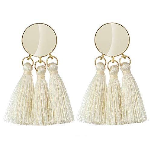 Jewels Galaxy Luxuria Limited Collection Copper, Thread Gold Plated and Crystal Tassel Earrings for Women   Girls