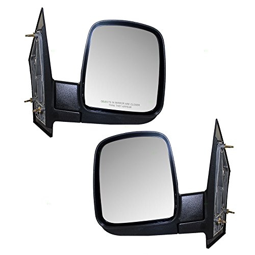 Driver and Passenger Manual Side View Mirrors Replacement for Chevrolet GMC Van 15937986 15937996 AutoAndArt