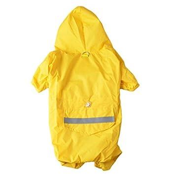 Kleidung Hoodie Badalink Wasserdicht Sommer Pu Leder Hund Haustier Regenjacke Regenmantel XPkiOuZ