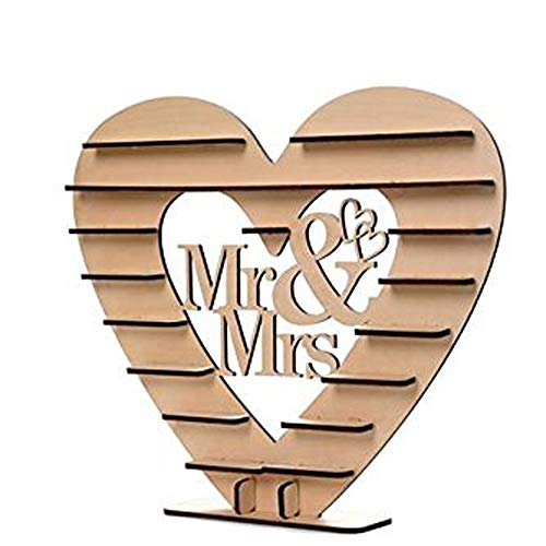 FIged Stationary Supplies, Mr & Mrs Wooden Ferrero Rocher Chocolate DIY Heart Tree Display Stand Centrepiece Home Decor Wedding Gifts