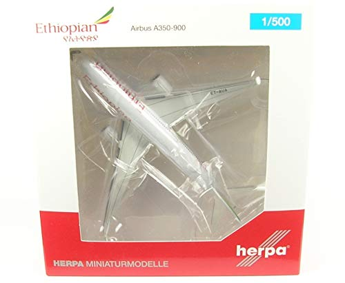 Ethiopian Airlines - Herpa Wings 531610 Ethiopian Airlines Airbus A350-900 1/500 Scale Diecast Model